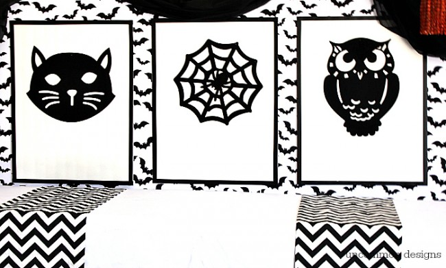DIY Dollar Store Halloween Art by Uncommon Designs