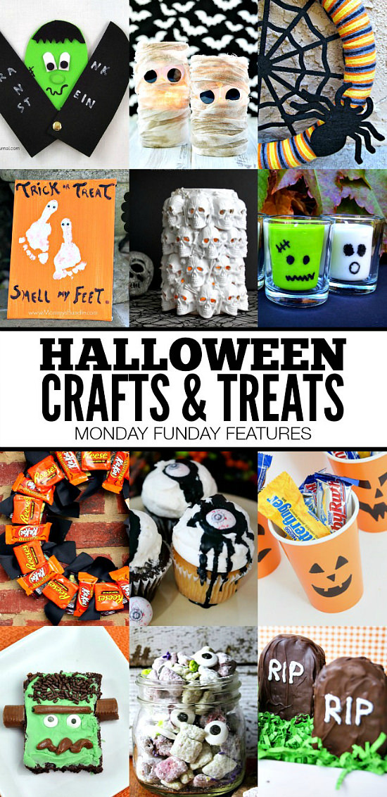 Fabulous Halloween Crafts and Treats from the weekly Monday Funday link party.