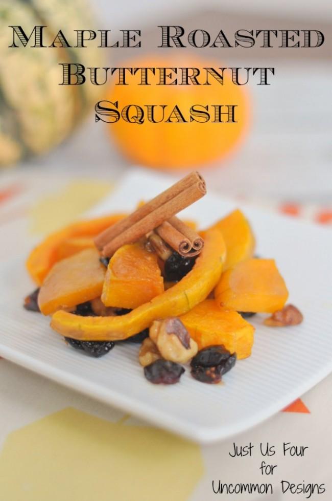 Maple Roasted Butternut Squash Recipe ~ Uncommon Designs