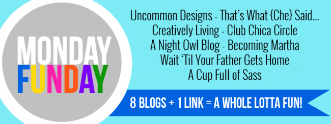 Monday Funday 8 blog weekly link party at Uncommon Designs
