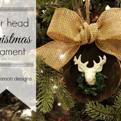 Deer Head Christmas Ornament