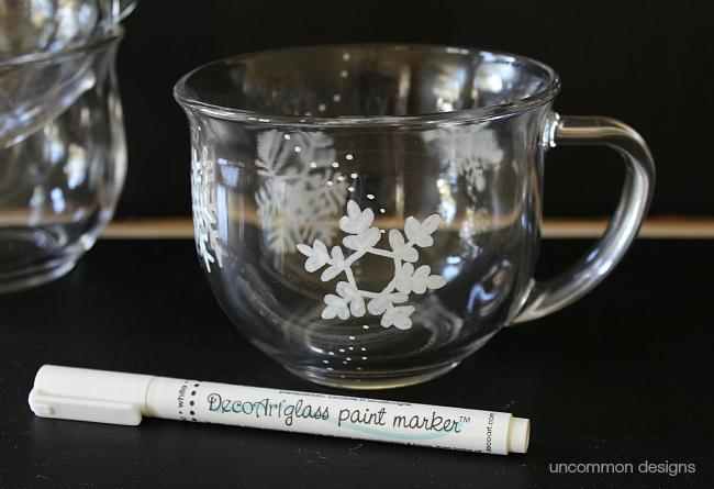 diy-snowflake-mug-decoart-glass-paint-marker