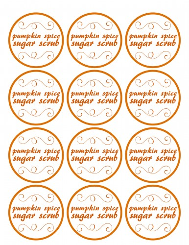 Learn how to make a Pumpkin Spice Sugar Scrub with a Free Printable Tag by Uncommon Designs