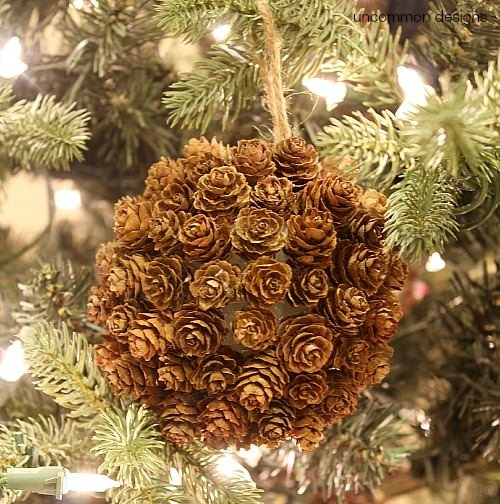 pine cone christmas ornament uncommon designs - Pine Cone Christmas Tree Decorations