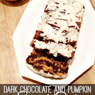 Gluten Free Dark Chocolate and Pumpkin Swirl Cake