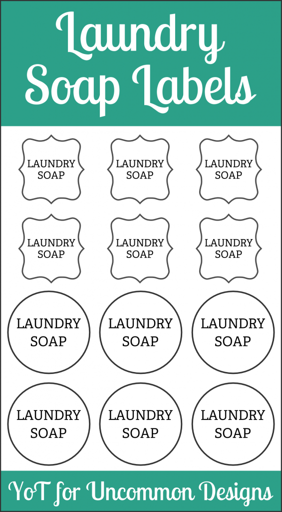DIY Laundry Soap and Free Printable Labels via Uncommon Designs