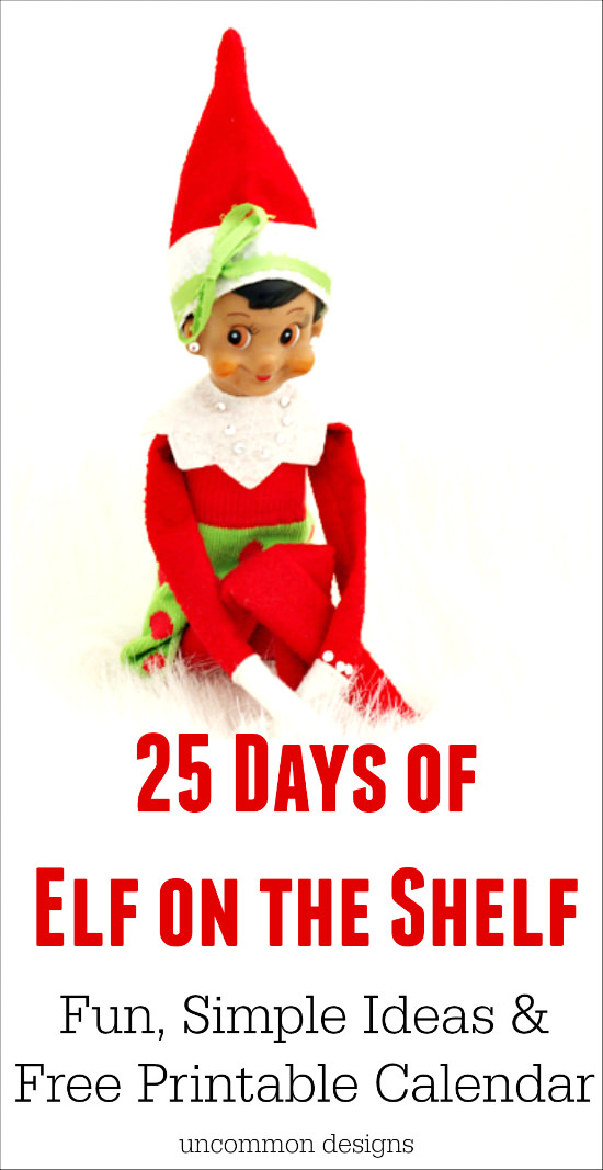 graphic regarding Elf on the Shelf Printable named Elf upon the Shelf Printable Calendar