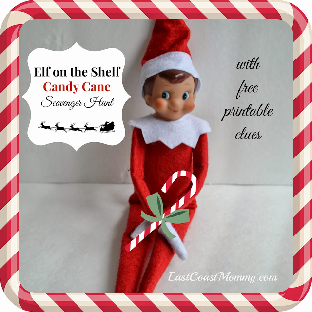 elf on the shelf candy cane scavenger hunt