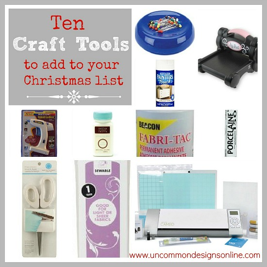 Out best Gift Guide for Crafters. Sharing 10 of our most favorite crafting products for that crafter in your life! via Uncommon designs