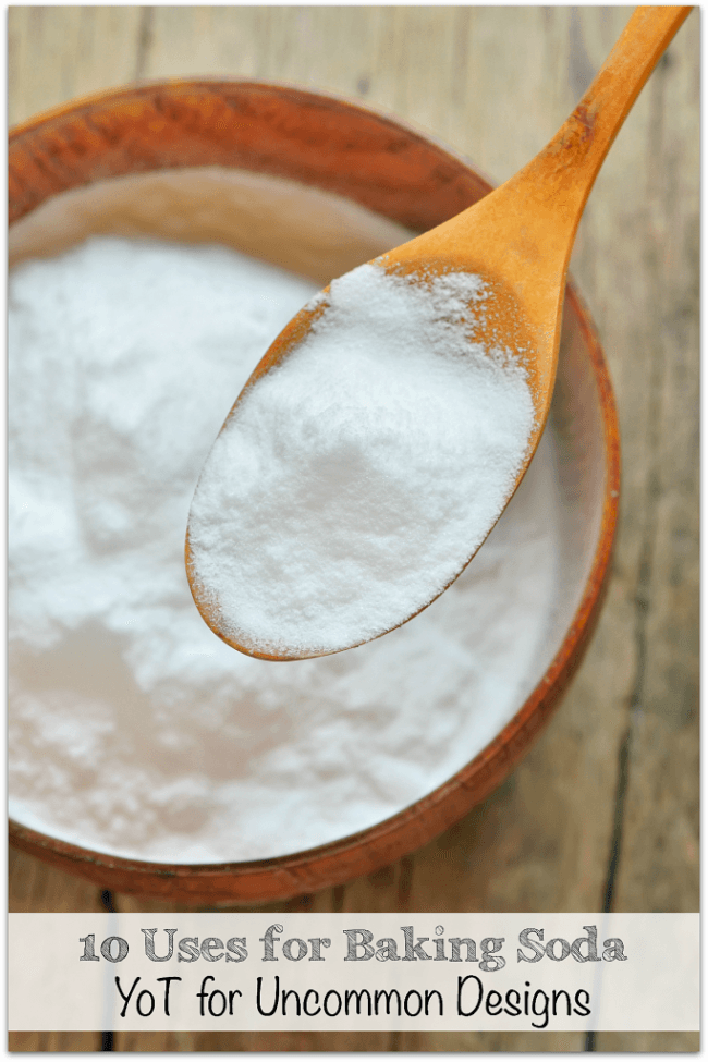 10 ways to use baking soda in your home via Uncommon Designs
