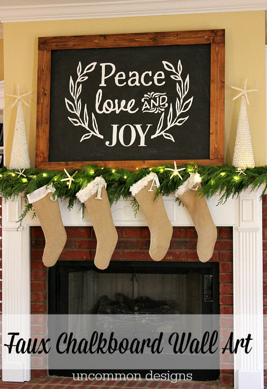Michaels Wall Art faux christmas chalkboard wall art