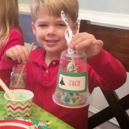 Get the kids in on the fun this holiday season and throw a Tree Trimming Party! via Uncommon Designs