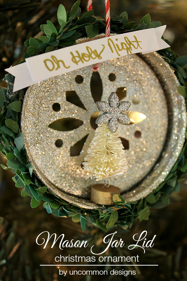 Mason Jar Lid Christmas Ornament Uncommon Designs