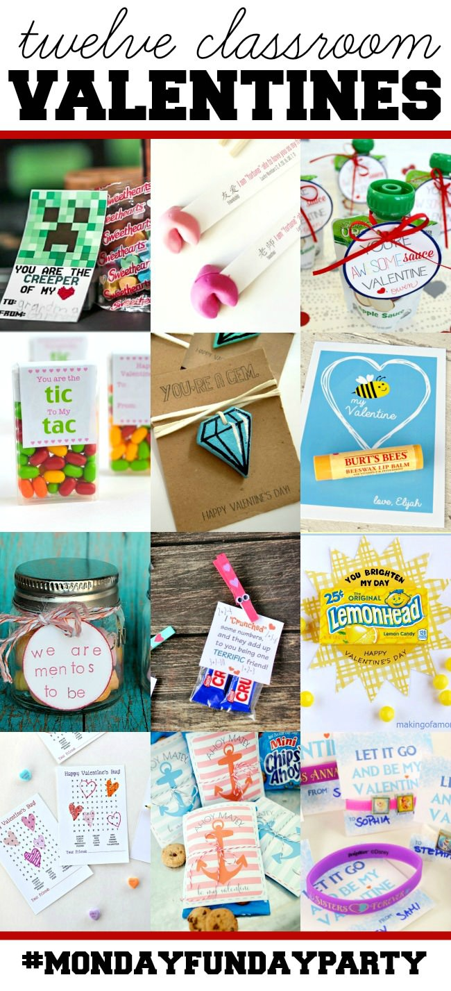 12 Awesome Classroom Valentines from the Monday Funday Link Party via Uncommon Designs