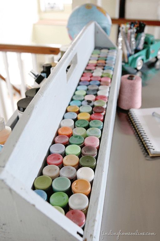 Ideas for Craft Paint Storage that will save you time and money.