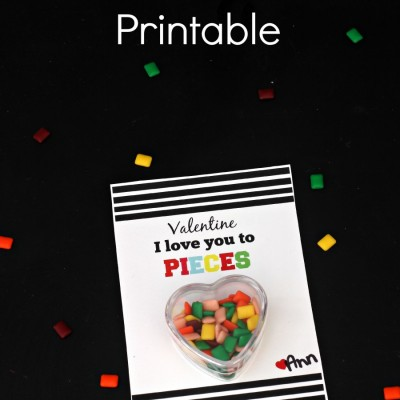 I Love You to Pieces Valentine Printable