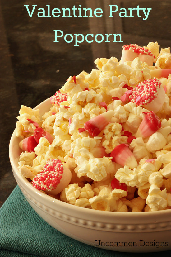 Valentine Party Popcorn recipe by Uncommon Designs