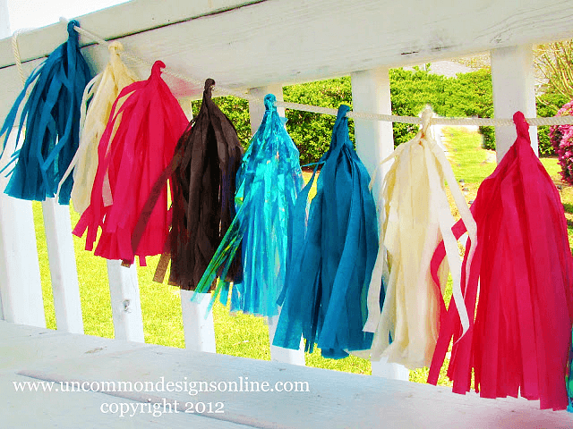 Tissue Paper Tassel Banner via Uncommon Designs