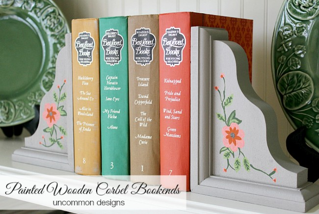 painted-wooden-corbel-bookends-uncommondesigns