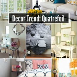 quatrefoil decor trend