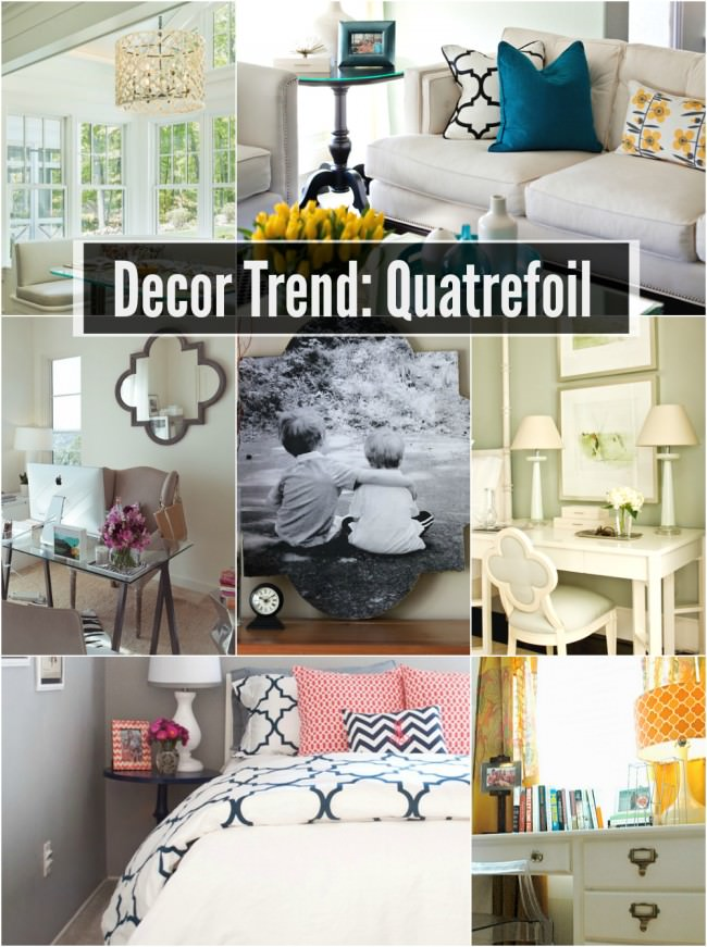How to incorporate the quatrefoil design trend into your home decor via uncommon designs.