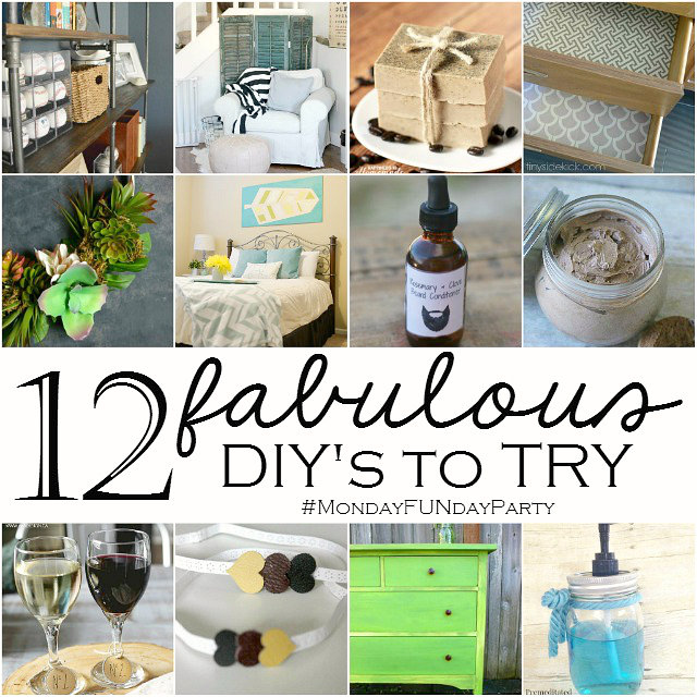 12 fabulous diys to try from the 8 bog Monday Funday link party via Uncommon Designs.