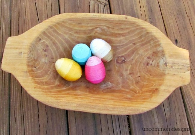 Thread Wrapped Easter Eggs by Uncommon Designs