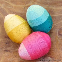 Ombre Thread Wrapped Eggs square