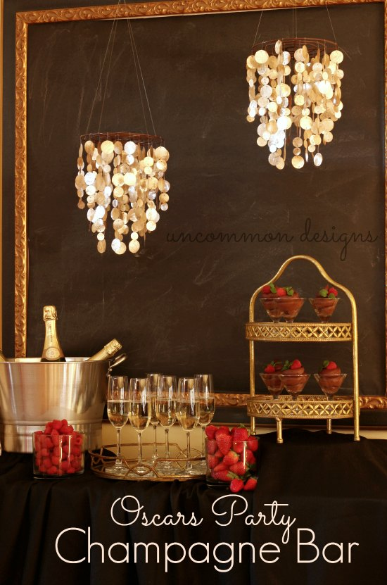 Oscars Party Champagne Bar by Uncommon Designs