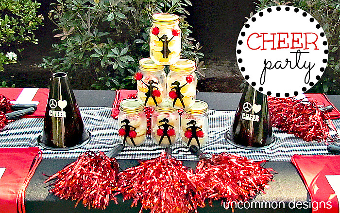 Got a little cheerleader? This fabulous cheer birthday party would be a hit via Uncommon Designs.