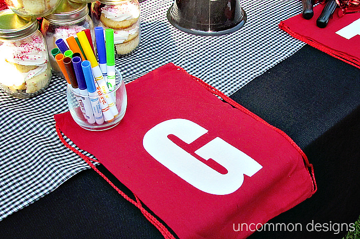 Party table ideas for children's birthdays via Uncommon Designs.