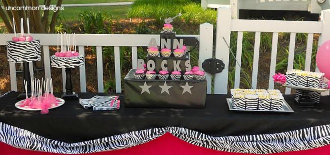 Perfect tween birthday party rock star style via Uncommon Designs.