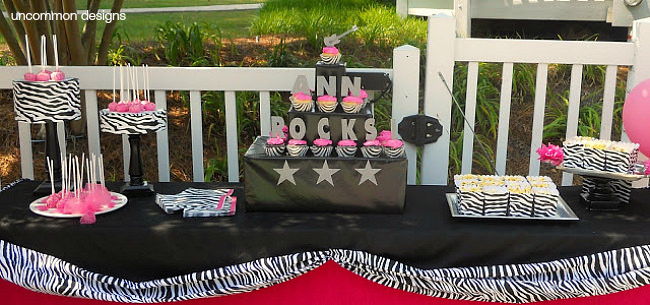 Perfect tween birthday party rock star style via Uncommon Designs.