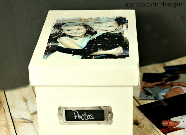 Photo Storage Box with photo transfer medium by Uncommon Designs