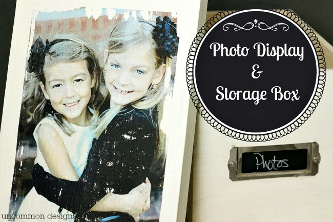 Photo Storage Box with photo transfer medium by Uncommon Designs