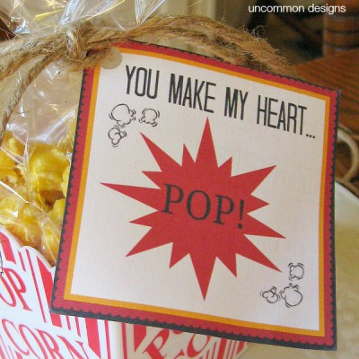 Easy Valentine Treat with Printable