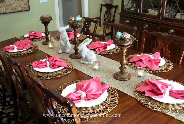 Easter tablescape via Uncommon Designs.