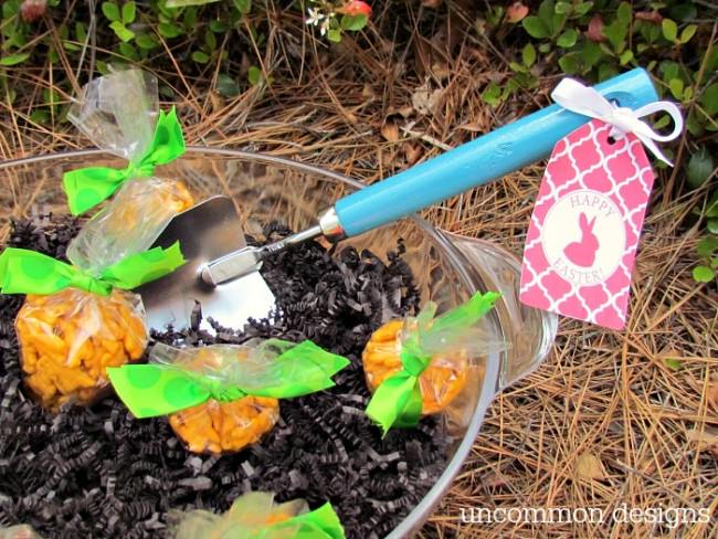 Create your own carrot patch for Easter treats with this simple idea from Uncommon Designs
