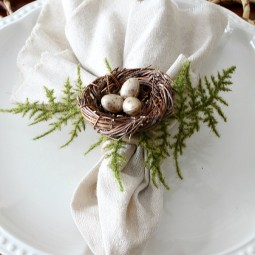 Beautiful Easter and Spring Bird's Nest Napkin Rings by Uncommon Designs
