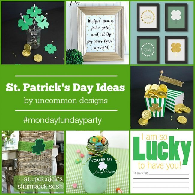 15 fabulous St. Patrick's Day Ideas from the Monday Funday link party via Uncommon Designs.
