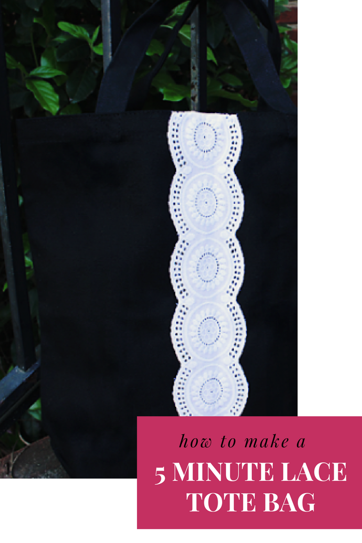 Make a lace tote bag in just five minutes!