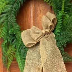diy fern wreath square