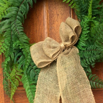 DIY Faux Fern Wreath