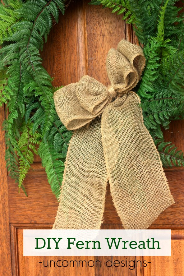 Make a DIY Faux Fern Wreath for Summer with Uncommon Designs