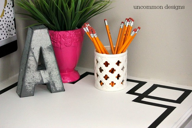 Create a Greek Key Desk Upgrade for Less than $1 with Uncommon Designs