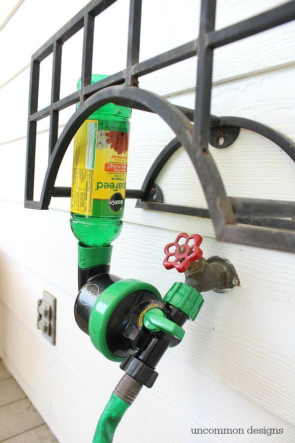 Miracle-Gro Liquafeed Universal Feeder makes watering and feeding your garden a breeze via Uncommon Designs.