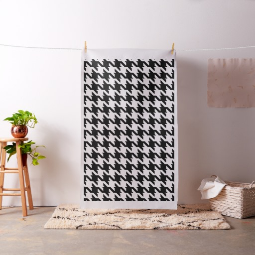 oversized houndstooth fabric