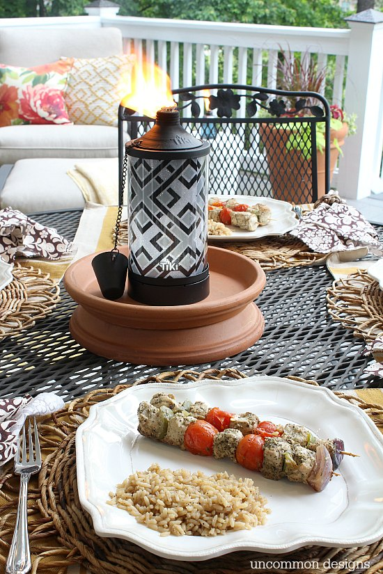 Creating a summer dinner al fresco via Uncommon Designs.