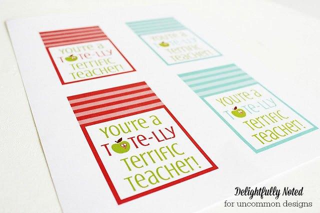 Teacher Appreciation Gift Printables via Uncommon Designs