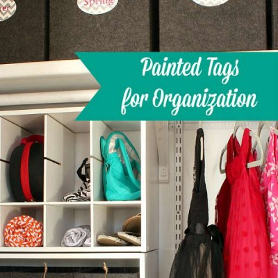 Painted Organization Tags